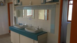 Kort verblijf toilet en douche op Aird Donald Caravan Park Stranraer.