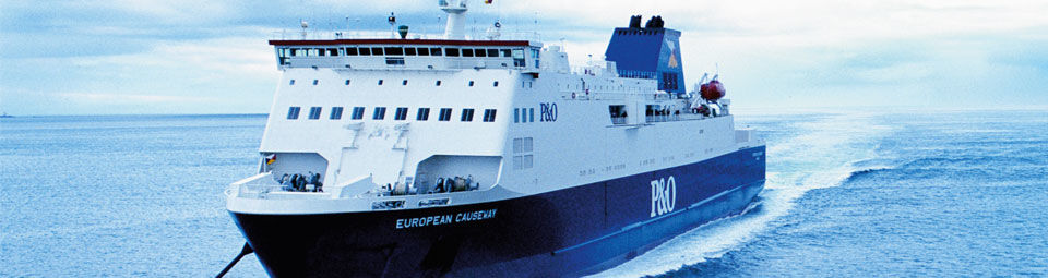 P&O operate from Carnryan, near stranraer