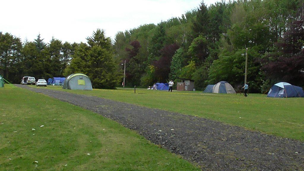 Camping area at AirdDonald Caravan Park, Stranraer