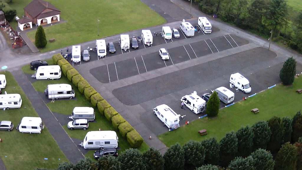 Hard standing area at Aird Donald Caravan Park, Stranraer.