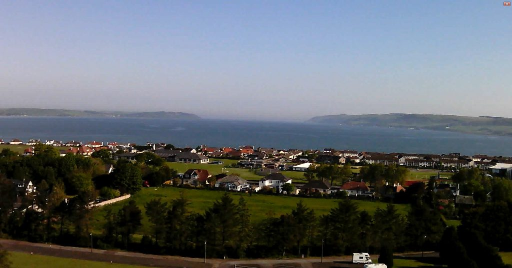Stranraer from the Air, looking North to Loch Ryan