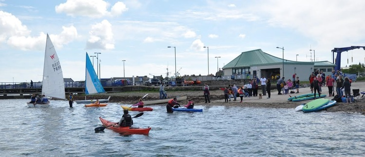 Water sports near Aird Donald Caravan Park, Stranraer